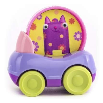 Машинка пластиковая Деревяшки Кошечка Мяу с кругом