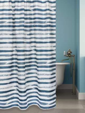 Штора для ванной BATH PLUS Stripes (blue)