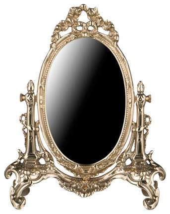 Зеркало настольное Stilars 333-036 22х32 см, латунь