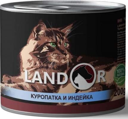 Консервы для кошек Landor, куропатка с индейкой, 200г