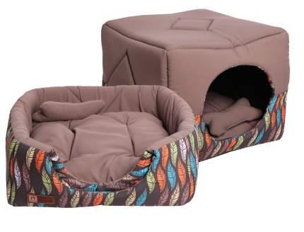 Домик-лежак для кошек и собак ЗООГУРМАН Домосед, серый, 950г, 45х45х45 см