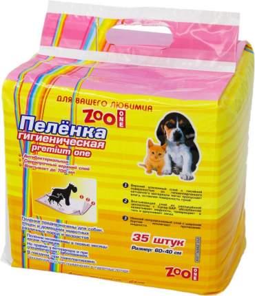 Пелёнки гигиенические для животных ZooOne Premium one, 35 штук, 60x40 см