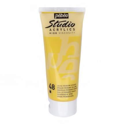 Акриловая краска Pebeo Studio Acrylics 831-048 желтый 100 мл
