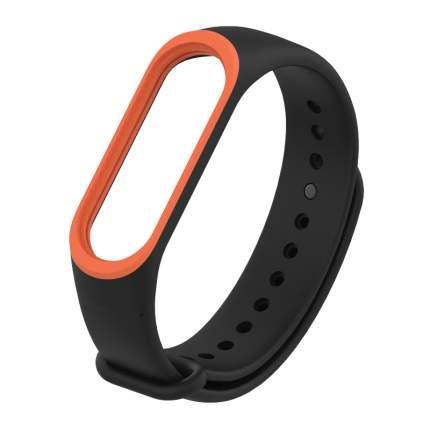 Ремешок силиконовый Mijobs Silicon Dual Color для Mi Band 3/4 Black/Orange D303