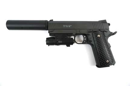Страйкбольный пружинный пистолет Galaxy (кал. 6 мм) G.25A (Colt 1911PD Rail)