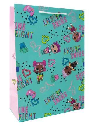 Пакет подарочный большой ND Play L.O.L. Surprise! мятный с розовым