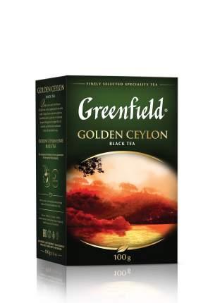 Чай черный  Greenfield листовой golden ceylon 100 г