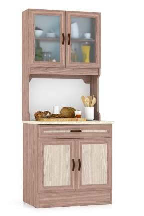 Кухонный буфет Мебельный Двор 800 ясень шимо светлый/ясень шимо тёмный 80х60х200