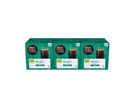 Кофе натуральный жареный молотый Nescafe Dolce Gusto Mexico Americano 3 штуки по 12 капсул