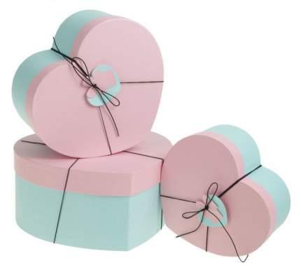 """Набор коробок 3в1 """"Сердце"""", розовый, 30 х 28 х 14 - 22 х 20 х 10 см Sima-Land"""