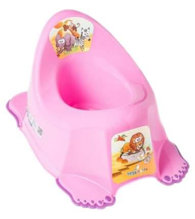 Горшок музыкальный Tega Baby Сафари антискользящий розовый