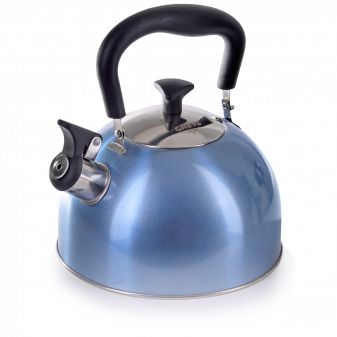Чайник для плиты GREYS KS-434 со свистком, 2,5л, нержавейка