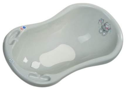 Ванна Maltex Медвежонок 100см с пробкой и нескользящим ковриком серый