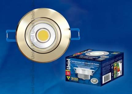 Встраиваемый светильник ULM-R31-3W/NW IP20 GOLD картон 8784