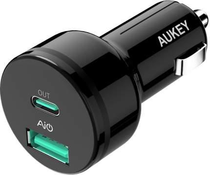Автомобильная зарядка Aukey СС-Y7 Power Delivery 2.0 USB-C (Black)