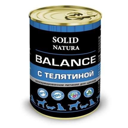 Консервы  для щенков Solid Natura Balance, Телятина, 340 г