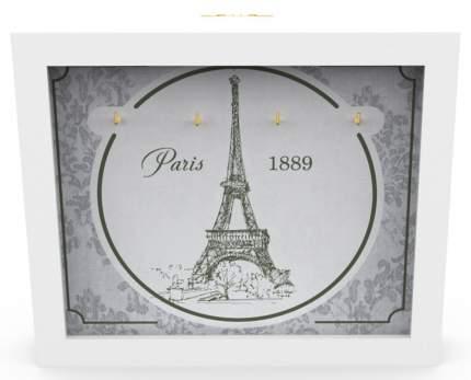 """Ключница """"Paris 1889"""" 26x22 см массив дерева, белый  Дубравия KD-041-004"""