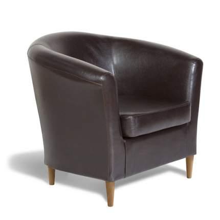 Кресло Евро Лайт экокожа коричневый