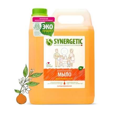 """Жидкое мыло SYNERGETIC """"Фруктовый микс"""" с эффектом увлажнения, гипоаллергенное, 5л"""