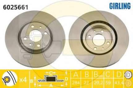 Тормозной диск GIRLING 6025661
