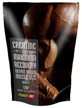 Креатин PowerPro Creatine Maximum Recovery, 500 г, мохито