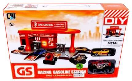 Автозаправочная станция, машина металлическая 2 шт CM559-52B Наша игрушка