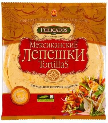 Лепешки Delicados tortillas мексиканские для сандвичей пшеничные сырные 6 штук