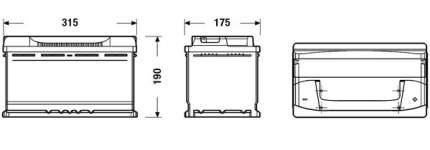 Аккумулятор автомобильный EXIDE EB800 80 Ач