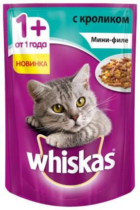 Влажный корм для кошек Whiskas Мини-филе с кроликом, 24шт, 85 г