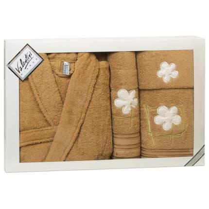 Набор халат+3 полотенца VALENTINI арт,Flower 2 1193/103 L