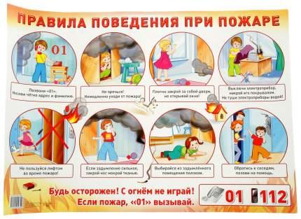 Демонстрационный плакат правила поведения при пожаре
