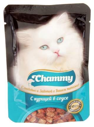 Влажный корм для кошек Chammy курица в соусе, 85 г