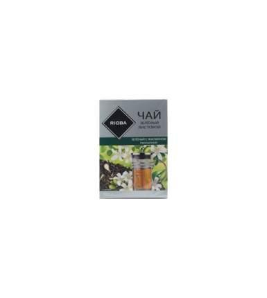 Чай Rioba зеленый с жасмином рассыпной листовой крупный 400 г
