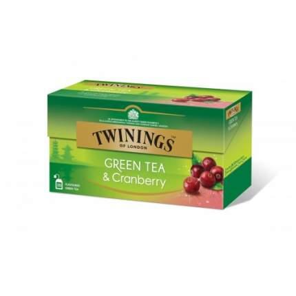 Чай зеленый Twinings клюква 25 пакетиков