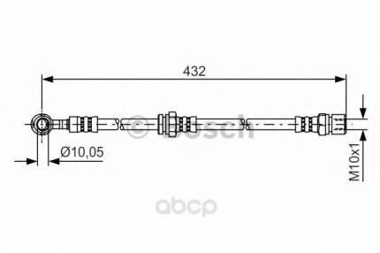 Шланг тормозной системы Bosch 1987481383 передний левый
