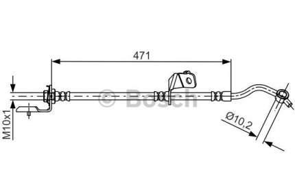 Шланг тормозной системы Bosch 1 987 481 715