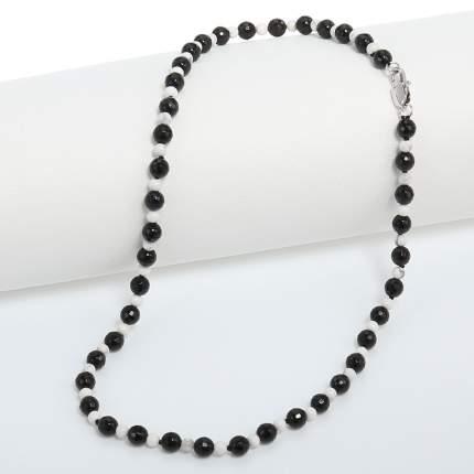 Бусы My-bijou агат черный / кахолонг белый 45 см