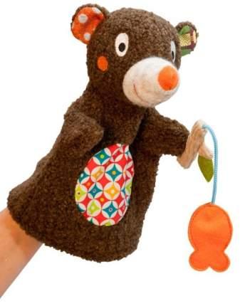 Мягкая игрушка Ebulobo на руку Мишка на рыбалке