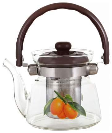 Заварочный чайник Agness 891-011 Зеленый, оранжевый, прозрачный