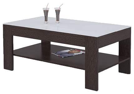 Журнальный столик Мебелик BeautyStyle 26 1142 110х60х46,5 см, венге/стекло белое