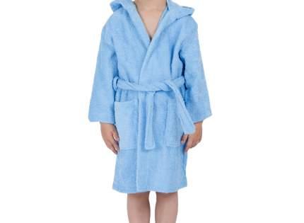 """Детский махровый халат с капюшоном, голубой, р. 34 """"ЭГО"""""""