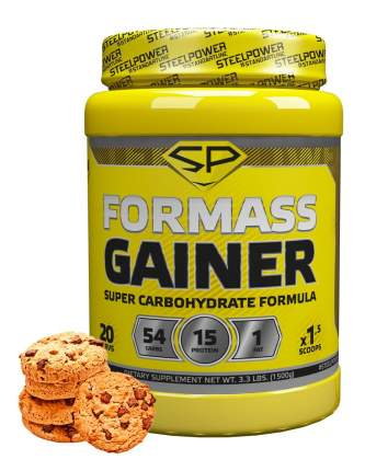 Гейнер Steel Power Nutrition For Mass Gainer 1500 г молочное печенье