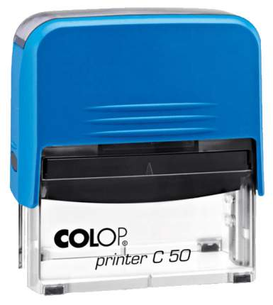 Оснастка для печати Colop C50 Compact Transparent. Цвет корпуса: синий.