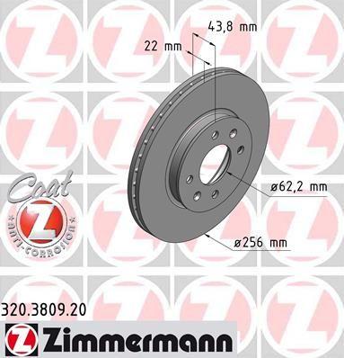 Тормозной диск ZIMMERMANN 320380920