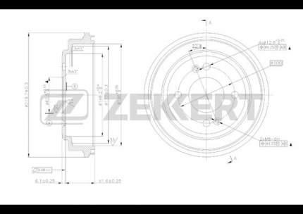 Тормозной барабан ZEKKERT BS-5228