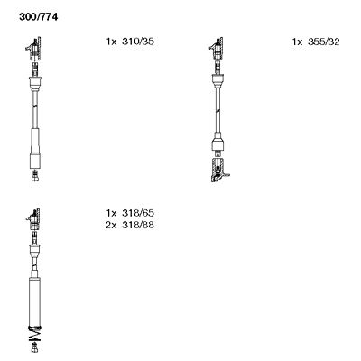 Комплект проводов зажигания BREMI 300/774