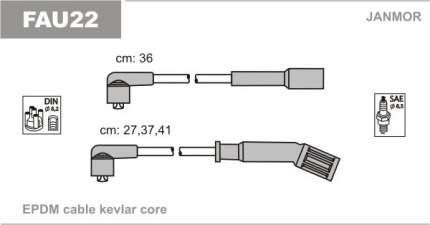 Комплект проводов зажигания JANMOR FAU22