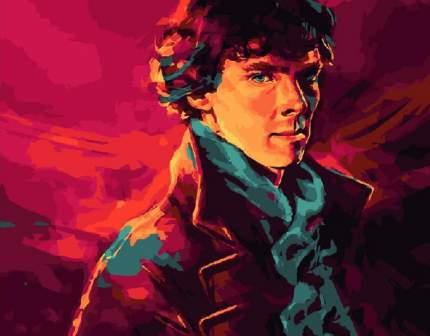 """Картина по номерам Paintboy """"Шерлок Холмс"""", 40x50 см"""