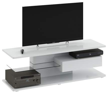 Тумба под телевизор приставная Трия Diamond тип 1 TRI_105003 140x44x46 см, белый