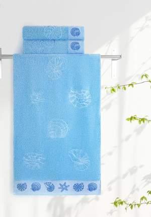 Полотенце универсальное Aquarelle Ракушки голубой